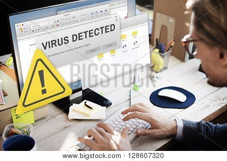 Unsecured Virus Detected Hack Unsafe Concept poster