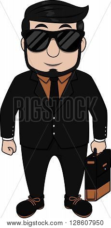 Cool executive man .eps10 editable vector illustration design