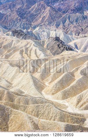 Outstanding Zabriskie Point, Death Valley, California, Usa