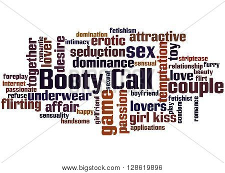 Booty Call, Word Cloud Concept 8