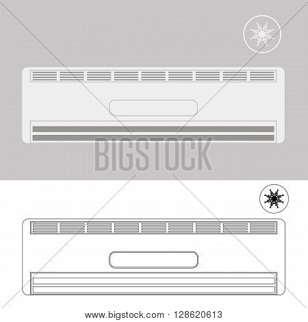 Wall-mounted Air Conditioner. Air Purifier. Air Conditioner on the Wall.