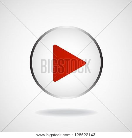 Play icon, multimedia player, multimedia play button, vector illustration, eps 10 poster