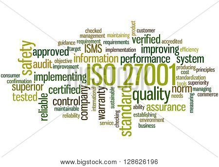 Iso 27001 - Information Security Management, Word Cloud Concept 9
