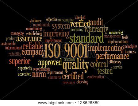 Iso 9001, Word Cloud Concept 7