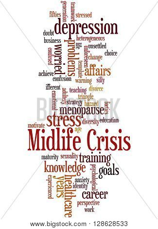 Midlife Crisis, Word Cloud Concept