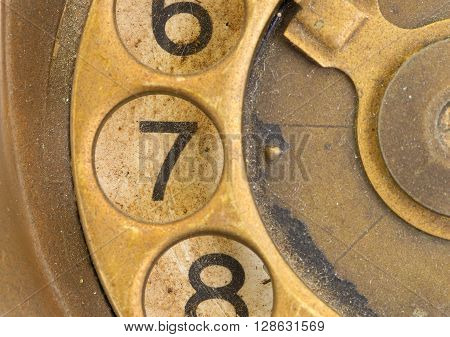 Close Up Of Vintage Phone Dial - 7
