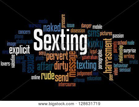 Sexting, Word Cloud Concept 5
