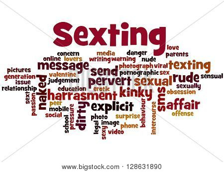 Sexting, Word Cloud Concept 9
