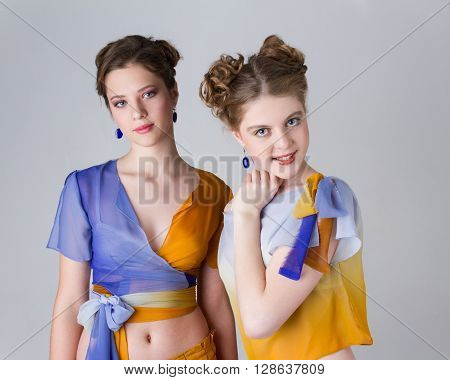 portrait of beauty of the person young beautiful clever attractive girls
