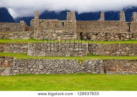 South America Peru Machu Picchu the lost ancient incas town on the Inka Trail
