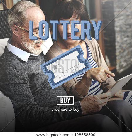 Lottery Bet Betting Jackpot Lucky Money Scratch Concept