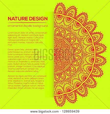 Vector Nature Decor For Your Design With Abstract Ornament