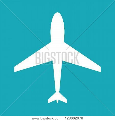 White aircraft web icon. Aircraft icon white flat aircraft icon shape. Aircraft icon shape label symbol. Graphic vector element. Vector design element for logo web and print. Vector aircraft icon