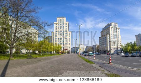 Karl-marx-allee, A Monumental Socialist Boulevard Of The Former East Berlin