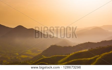 Morning light on the mountain of north Ethiopia