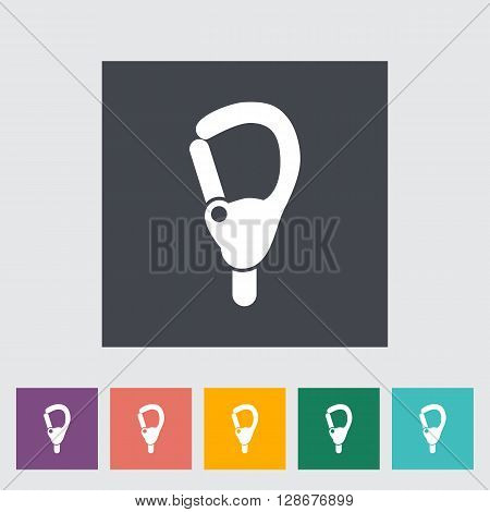Carabiner icon. Flat vector related icon for web and mobile applications.