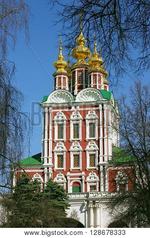 Church in Novodevichy convent in the centre of Moscow