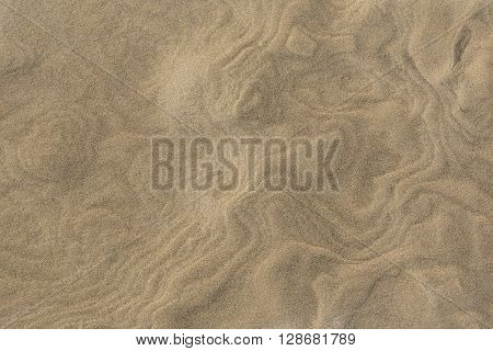 Closeup on pattern in a sand dune