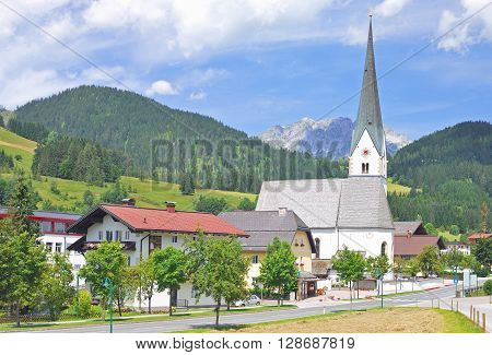 Village of Sankt Martin am Tennengebirge in Salzburger Land,Alps,Austria