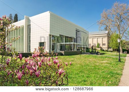 BADEN-BADEN, GERMANY  - MAY 4: Museum Frieder Burda in the historic center of Baden-Baden. Baden-Baden is the most visited resort in Germany. Baden-Baden, May 4, 2016