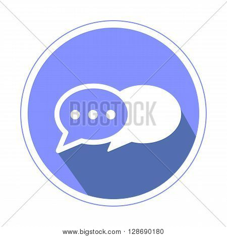 Chat icon in violette color isolated on white background