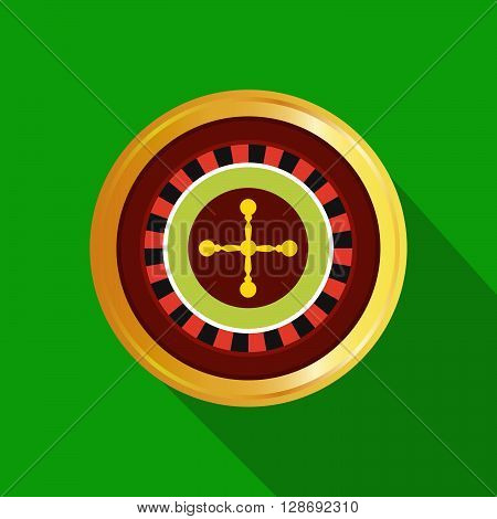 flat poker table. Stock vector. Vector illustration.