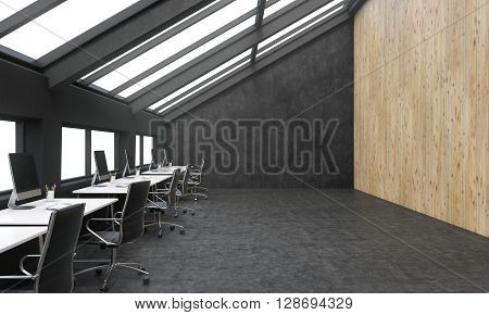 Coworking Space Wooden Wall