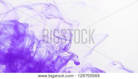 purple ink spreading in water, 4k photo