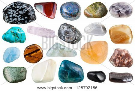 Set Of Various Tumbled Mineral Gemstones