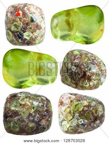Set Of Various Peridot (olivine, Chrysolite) Gems