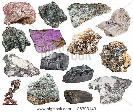 Many Natural Mineral Stones And Rocks