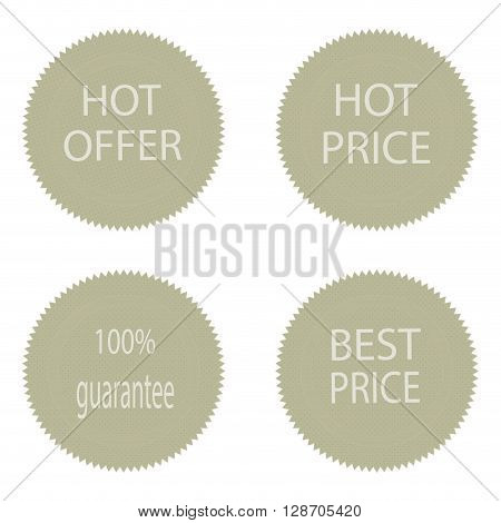 Best price and hot offer stickers for sale. Fashion badge tag pr lable for consumerism sale round texture tag. Vector flat design illustration