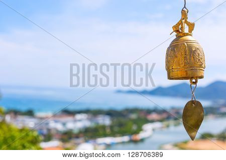 Bronze Bell At A Buddhist Temple In Thailand
