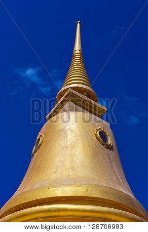 Golden Stupa On Koh Samui Island, Thailand