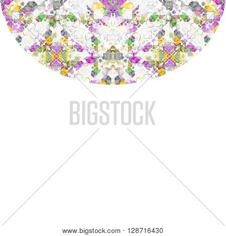 White Background With Geometric Ornate Round Borders