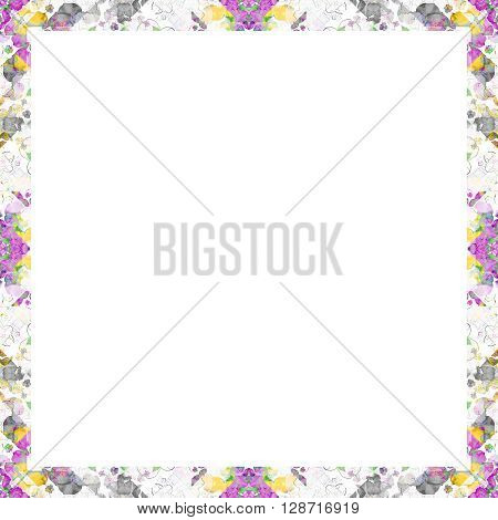 White Frame With Geometric Ornate Borders