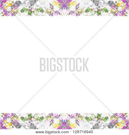 White Frame With Geometric Ornate Borders