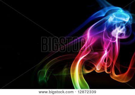 nube de humo de arco iris