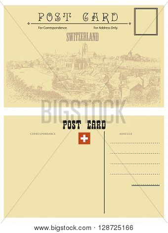 Switzerland postcards vintage style attributes with the country of Switzerland.