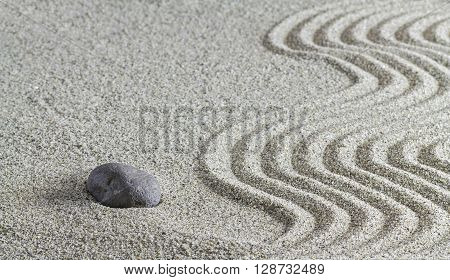Stones And A Line On The Sand.