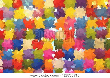 The colourful abstract crystallise picture as background