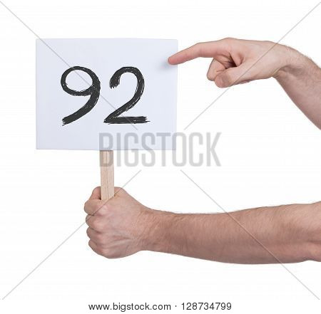 Sign With A Number, 92