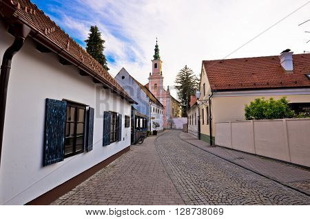 Streets of town Varazdin view northern Croatia