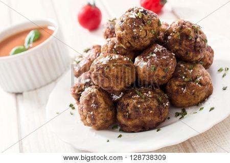 Meatballs In Plate