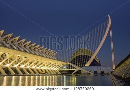 VALENCIA SPAIN - OCTOBER 07 2014: Prince Philip Science Museum in Valencia Spain