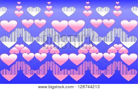 This is Vector pattern with pink hearts