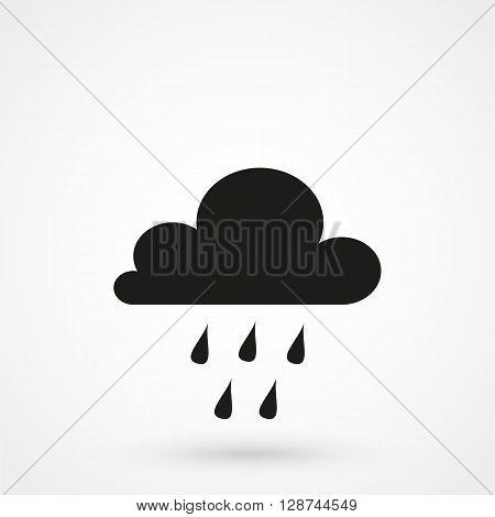 Rain Clouds Icon Vector