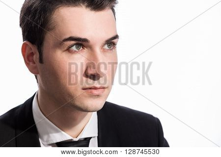 Businessperson Looking Away