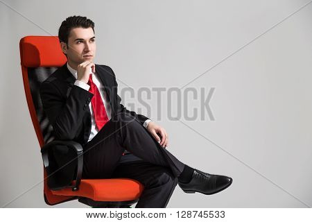 Sitting Businessperson