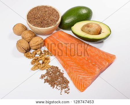 Sources of omega 3 fatty acids. Salmon.